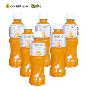 七咔呢 橙汁饮料 含椰果 300ml*6支 折14.9元(第二件半价)