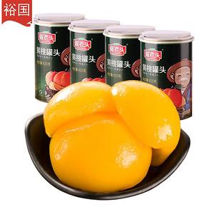 裕国 罐老头 糖水黄桃罐头 425g*4罐 29.9元包邮