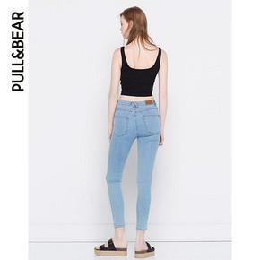 PullAndBear 女士高腰款紧身牛仔裤 79元