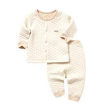 北极绒 婴儿夹丝彩棉保暖内衣 24.9元包邮(39.9-5-10券)
