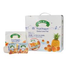 买1送1# SUKI多美鲜 脱脂果粒酸奶礼盒 12盒*100g 折34.5元