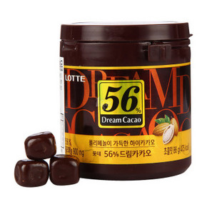 L0TTE 乐天 56%可可黑巧克力 86g 折12.3元(24.5,买1送1)