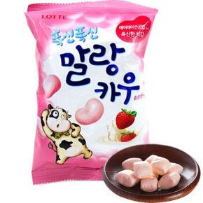 韩国乐天Lotte  棉花糖  草莓味 63g*10 49元
