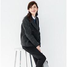 UNIQLO 优衣库  女士双排扣羊毛混纺大衣 199元