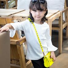 时尚宝贝# 超仔棒 女童圆领喇叭袖T恤 29元包邮(49-20券)