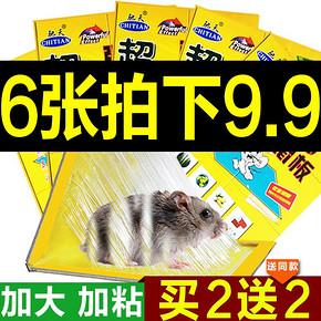 老鼠克星# 驰天 超强力粘鼠板 6张装 5.9元包邮(19.9-13-1券)