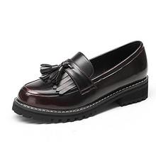 珂卡芙 女士复古英伦春秋粗跟单鞋 109元包邮(149-40券)