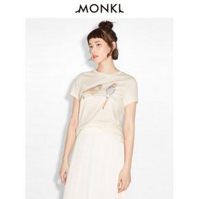 MONKI 春夏女士动物印花短袖T恤 40元包邮