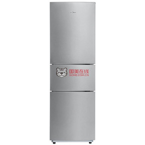美的 三门冰箱(极光银)219L 1299元