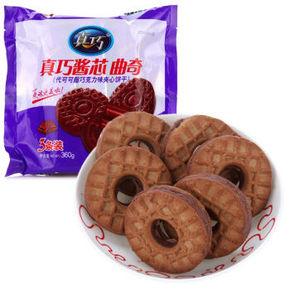 真巧 巧克力酱心曲奇饼干 原味360g*16袋    60元(双重优惠)