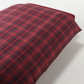 日系简约风# MUJI 棉法兰绒被套 135元