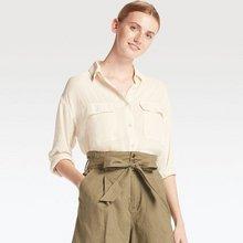 舒适穿搭# UNIQLO 优衣库 女士工装衬衫 99元包邮