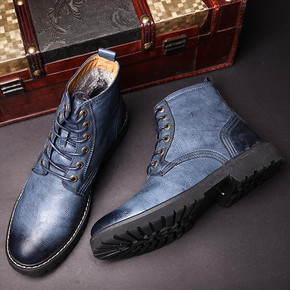 VISMIX 英伦工装高帮马丁靴 119元包邮(149-30券)