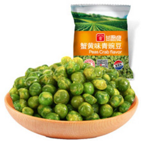 甘源牌 青豌豆蟹黄味 500g 折7.5元(14.9,2件5折)
