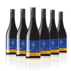 智利进口 智利水手 干红葡萄酒 750ml*6瓶 79元