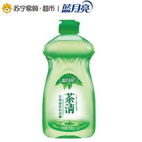 蓝月亮茶清天然绿茶洗洁精500g 折4.9元(9.9,买2免1)