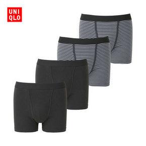 UNIQLO 优衣库 男士针织短裤 4件装 79元