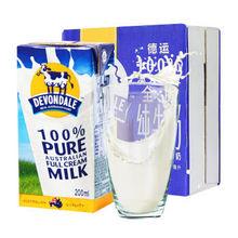 德运  全脂纯牛奶 200ml*24整箱装 59.9元
