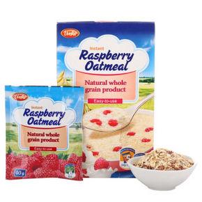 俄罗斯进口 Uvelka 五味佳 树莓燕麦片 200g 折5元(9.9,199-100)