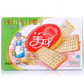 华东# 美丹 无蔗糖 白苏打饼干 原味 1000g 折8.8元(15.9,99-50券)