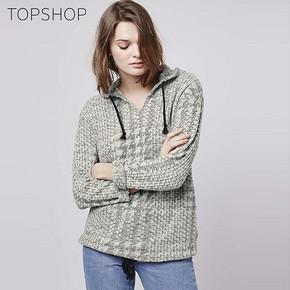 TOPSHOP 女士薄款灰白格纹连帽抽带卫衣 99元包邮