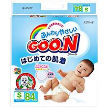 GOO.N 日本大王 维E系列 婴儿纸尿裤 S84片 81.2元(71.9+9.3)