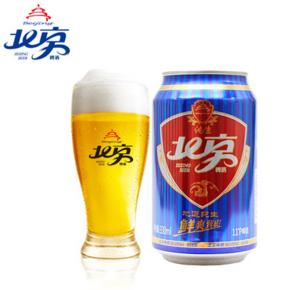 北京啤酒 11°纯生蓝罐330ml*6听 券后14.9元包邮
