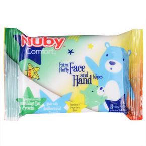 Nuby努比 宝宝手口湿纸巾 8抽 1元