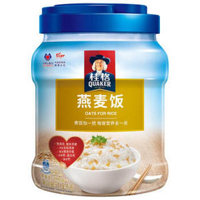 QUAKER 桂格 谷香多珍燕麦饭 1500g罐装 19.8元