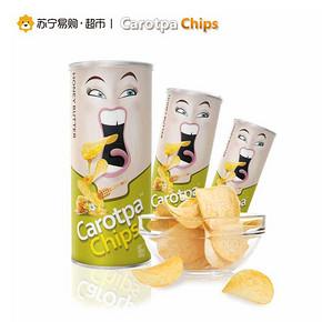 Carotpa 马来西亚进口 扑克牌蜂蜜味薯片 100g/罐 5.9元