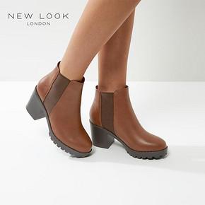 NEW LOOK 女士粗跟高跟短靴 券后64元