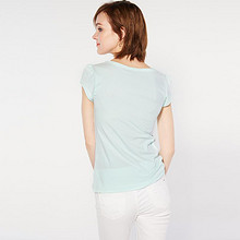 cachecache 纯色淡蓝短袖打底衫 19.9元包邮