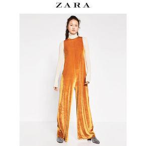 ZARA 女士天鹅绒连体裤 59元包邮