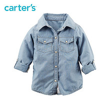 Carter's 1件式牛仔蓝长袖衬衫 84元包邮