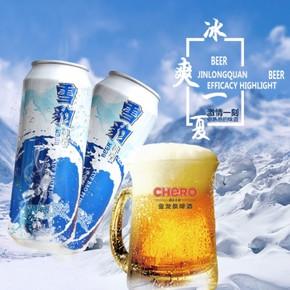 金龙泉 麦芽雪豹啤酒 500ml*9 21.9元包邮