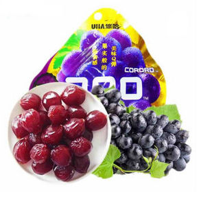酸甜美味# CORORO 悠哈 葡萄味软糖 52g 折5元(10,5件5折)