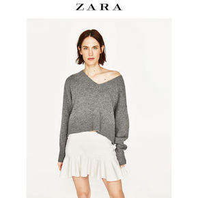 ZARA  女士自然腰仿皮半身裙 99元包邮