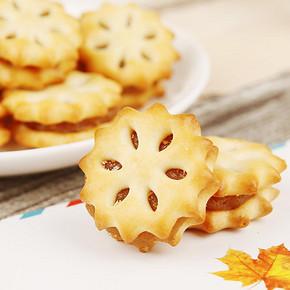 河马莉 菠萝味果酱夹心饼干180g*2罐 24.8元包邮(27.8-3券)