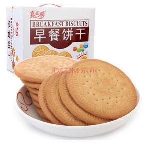 嘉士利 牛奶味早餐饼干1000g 12.8元