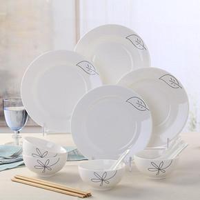组合好价# 森磊 景德镇骨瓷碗碟套装 16头 39元包邮(79-40券)