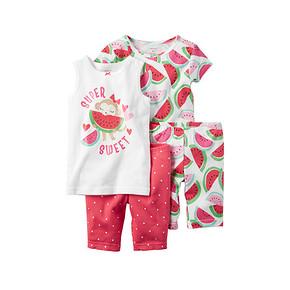 Carter's 婴幼儿全棉可爱家居服套装 4件套 54元包邮(59-5券)