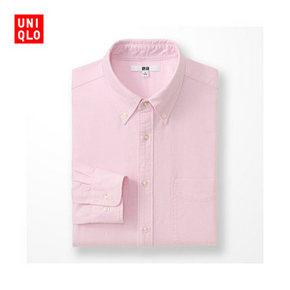 优衣库 UNIQLO 长袖牛津纺衬衫 99元