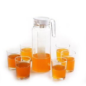低奢内 耐热玻璃冷水壶+杯子 7件套 19.9元包邮(29.9-10券)
