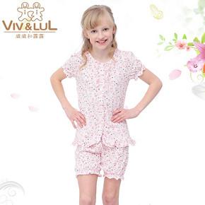 Viv&Lul 唯路易 夏季儿童纯棉家居服套装 29元包邮(89-60券)