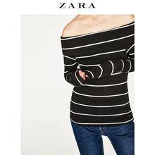 ZARA 女士春夏简约露肩针织衫 64元包邮