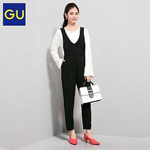 GU 极优 可拆卸纯色背带长裤 99元包邮