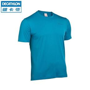 迪卡侬  男 运动圆领透气速干T恤短袖 19.9元