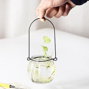 过家家 带铁圈水培南瓜玻璃瓶 1元包邮