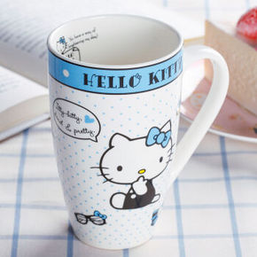 Hello Kitty  蓝色创意陶瓷马克杯 9.9元