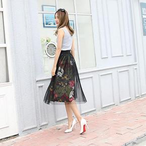 棉座 韩版修身显瘦网纱裙2件套 券后39元包邮